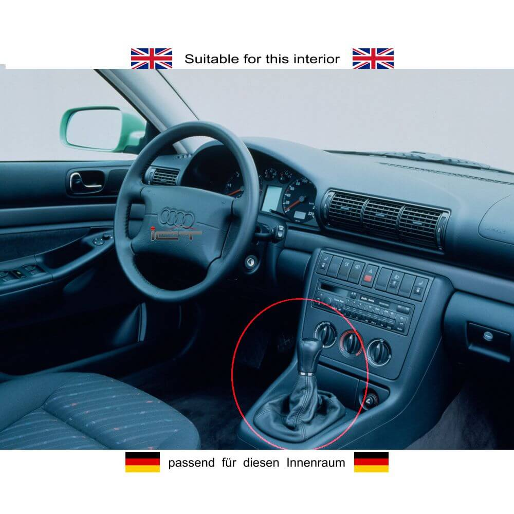 shift knob gaiter boot real leather audi a4 b5 typ 8d. Black Bedroom Furniture Sets. Home Design Ideas